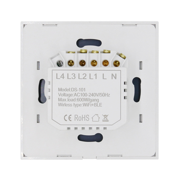 DESCENDIENTES Touch Switch Smart Wifi de 3 secciones, Smart Switch Interruptor de Vidrio Blanco Negro Oro Trabaja Con la Tuya Google