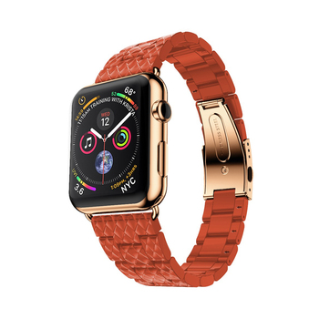 De lujo de la correa para Apple de la banda de reloj de 44 mm 40 mm iwatch de banda de 42 mm 38 mm de acero Inoxidable correa de pulsera de Apple watch series 3 4 5 se 6